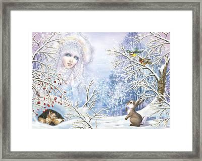 Snow Queen Framed Print by Zorina Baldescu