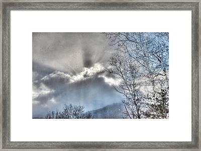 Framed Print featuring the photograph Snow Rays by Craig T Burgwardt