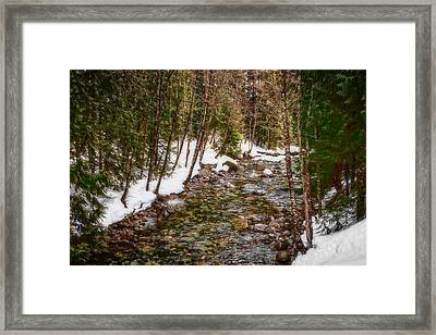 Snow River Framed Print