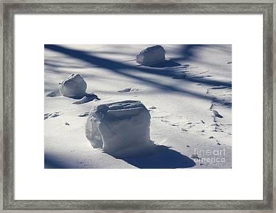 Snow Roller Trio In Shadows Framed Print