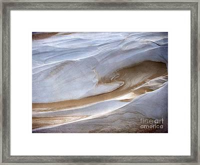 Snow Sand Swirl Framed Print