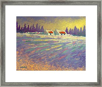 Snow Scape County Wicklow Framed Print by John  Nolan