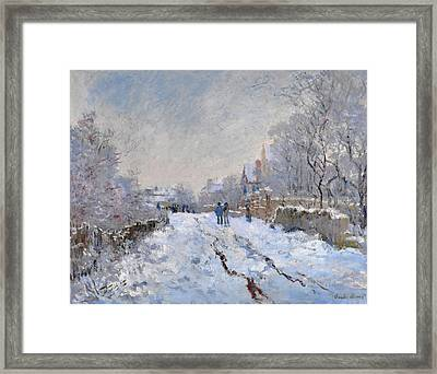 Snow Scene At Argenteuil Framed Print