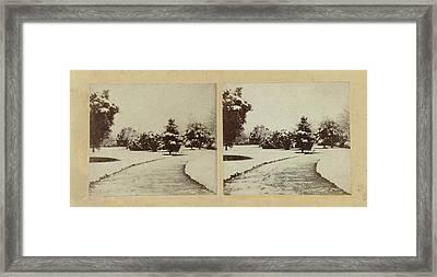 Snow Scene Cheltenham, Uk, Baynham Jones Framed Print
