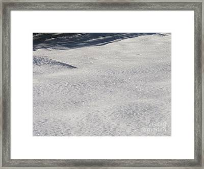 Snow Shadows 2 Framed Print