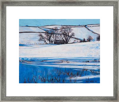 Snow Shadows Framed Print by Tilly Willis