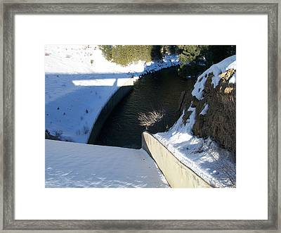 Framed Print featuring the photograph Snow Slide by Jewel Hengen