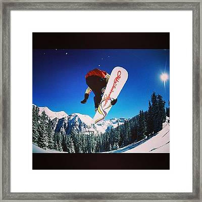 #snow #snowboard  #burton #elettrik Framed Print