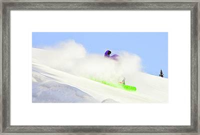 Snow Spray Framed Print