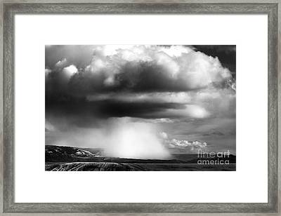 Snow Squall In Black And White Framed Print