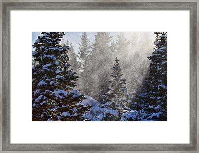 Snow Squalls Framed Print by Jim Garrison