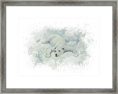 Snow Storm Framed Print by Aged Pixel