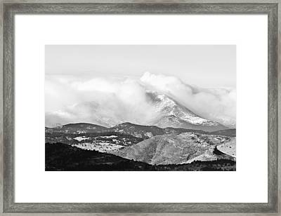 Snow Storm On The Twin Peaks Longs And Meeker Framed Print by James BO  Insogna