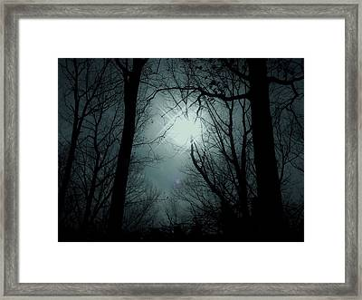 Snow Storm Sunset Framed Print by Sharon Costa