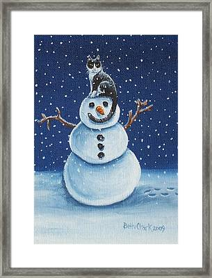 Snow Stormie Framed Print