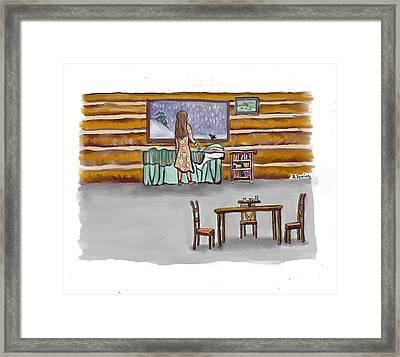 Snow Tang - Story Illustration 2 Age 12 Framed Print