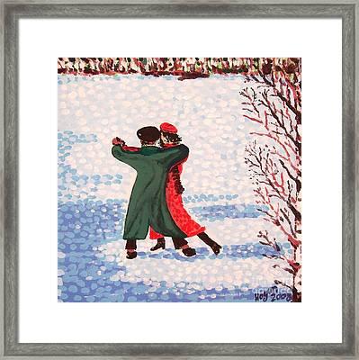 Snow Tango Framed Print by Alan Hogan