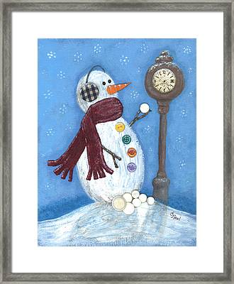 Snow Time Framed Print