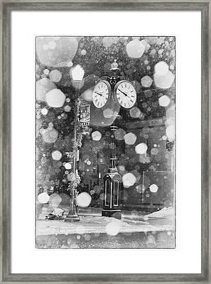 Snow Time Holly Michigan Framed Print