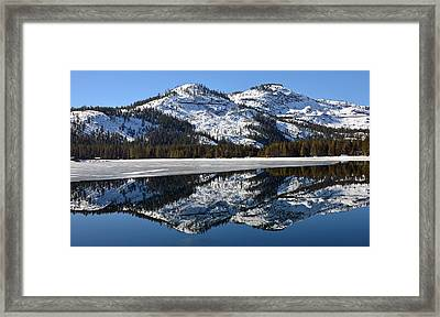 Snow Top Framed Print by Michael Brown
