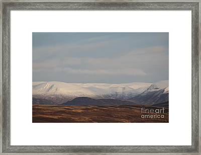 Snow Topped Mountains Framed Print