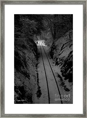 Snow Tracks - 2010 Framed Print