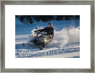 Snow Transport - 21st C Style Framed Print by Pat Speirs