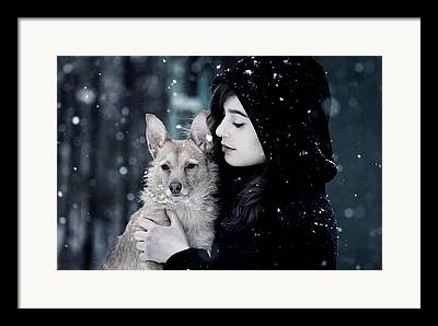 Snowy Framed Prints