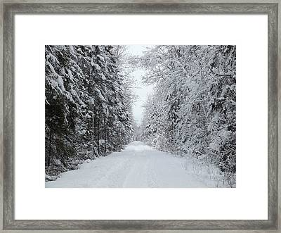 Snow Wall Framed Print by Gene Cyr