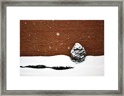 Snow Wall Framed Print by Tim Buisman