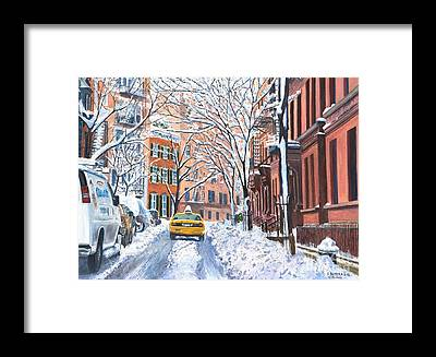 Snow Scene Framed Prints