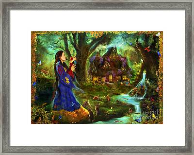 Snow White Framed Print by Aimee Stewart