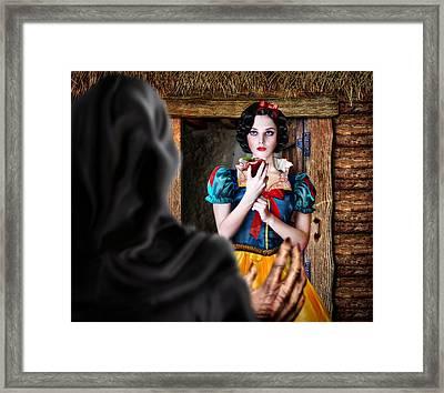 Snow White Framed Print by Alessandro Della Pietra