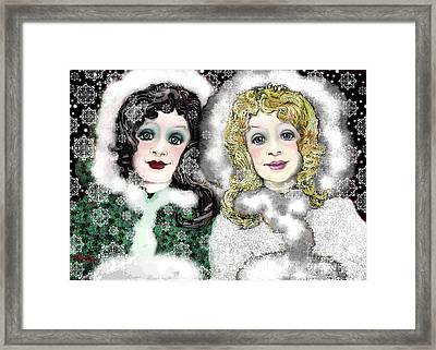 Snow White And Rose Red Framed Print by Carol Jacobs