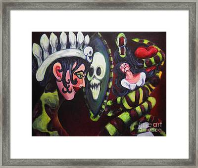Snow White And The Evil Queen Framed Print