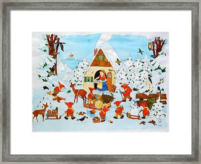 Snow White And The Seven Dwarfs Framed Print by Christian Kaempf