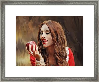 Snow White Framed Print by Hazel Billingsley