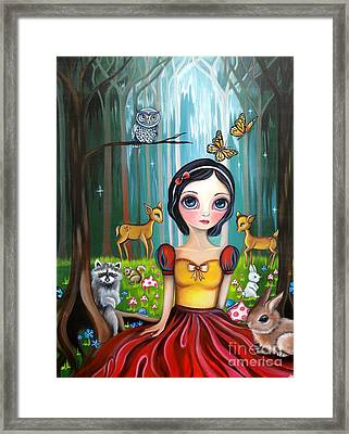 Snow White In The Enchanted Forest Framed Print