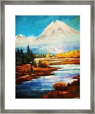 Snow White Peaks Framed Print by Al Brown