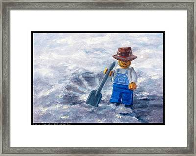 Snow Why Did It Have To Be Snow Framed Print by Diana Moses Botkin