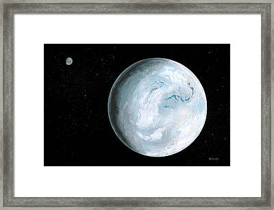 Snowball Earth Framed Print