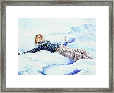 Snowball War Framed Print