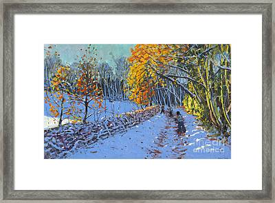 Snowballing Framed Print by Andrew Macara