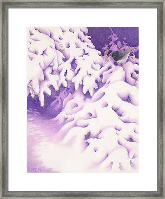 Snowbird Framed Print by Elizabeth Dobbs