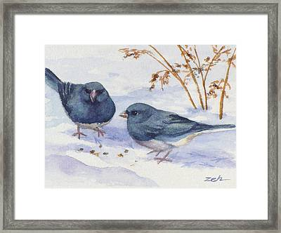 Snowbirds Framed Print by Janet  Zeh