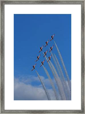 Snowbirds Performing Framed Print by Matt Dobson