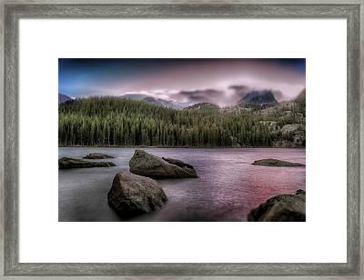 Snowblown Sunset  Framed Print