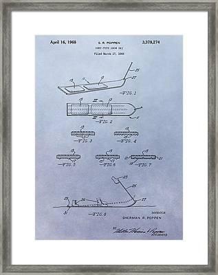 Snowboard Patent Framed Print