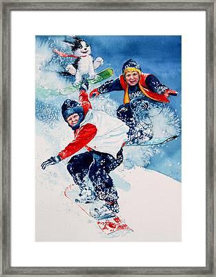 Snowboard Super Heroes Framed Print