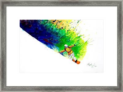 Snowboarder 1 Framed Print